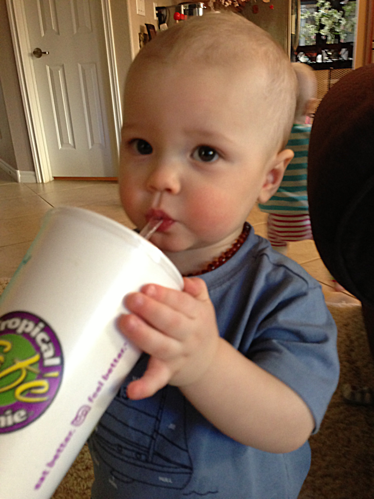 Cameron's First Tropical Smoothie