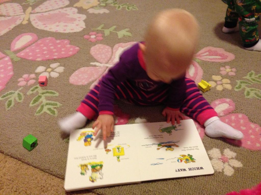 Sophia reading